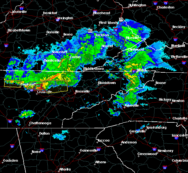 Radar Image for Severe Thunderstorms near Coalfield, TN at 3/3/2020 3:38 AM EST