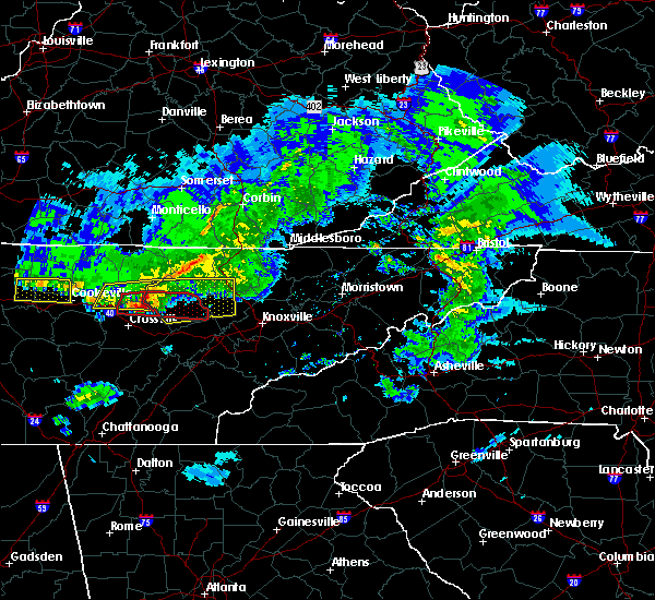 Radar Image for Severe Thunderstorms near Coalfield, TN at 3/3/2020 3:41 AM EST