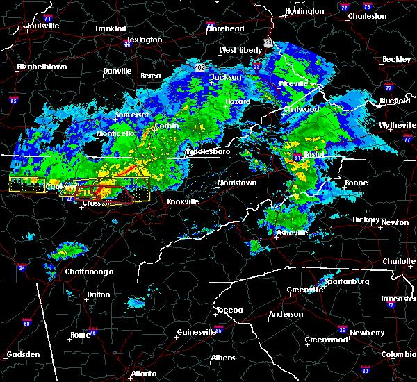 Radar Image for Severe Thunderstorms near Clarkrange, TN at 3/3/2020 2:43 AM CST