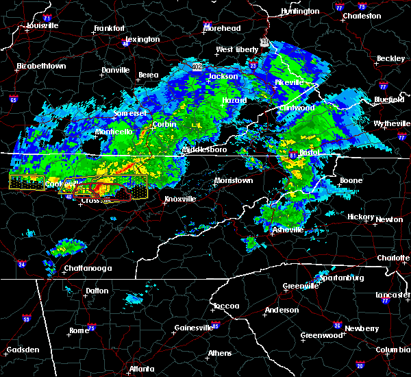 Radar Image for Severe Thunderstorms near Coalfield, TN at 3/3/2020 3:46 AM EST