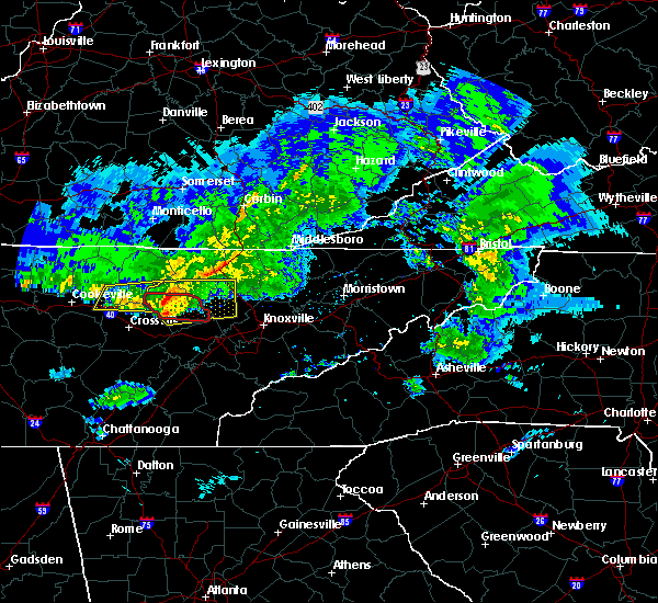 Radar Image for Severe Thunderstorms near Coalfield, TN at 3/3/2020 3:52 AM EST