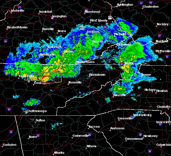 Radar Image for Severe Thunderstorms near Clarkrange, TN at 3/3/2020 2:53 AM CST