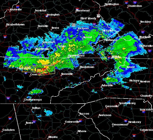 Radar Image for Severe Thunderstorms near Oak Ridge, TN at 3/3/2020 4:06 AM EST