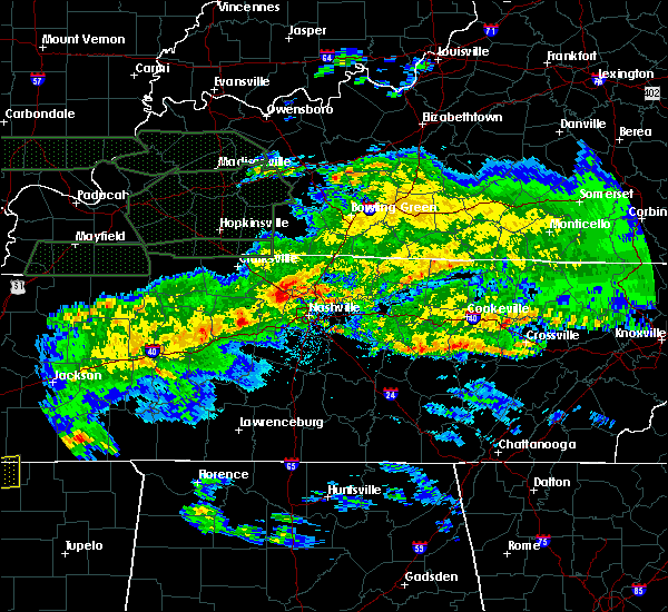Radar Image for Severe Thunderstorms near Ridgetop, TN at 3/3/2020 3:50 AM CST