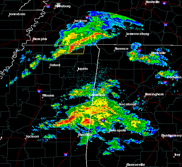 Radar Image for Severe Thunderstorms near Corinth, MS at 3/3/2020 4:17 AM CST