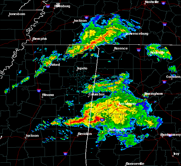Radar Image for Severe Thunderstorms near Corinth, MS at 3/3/2020 4:42 AM CST