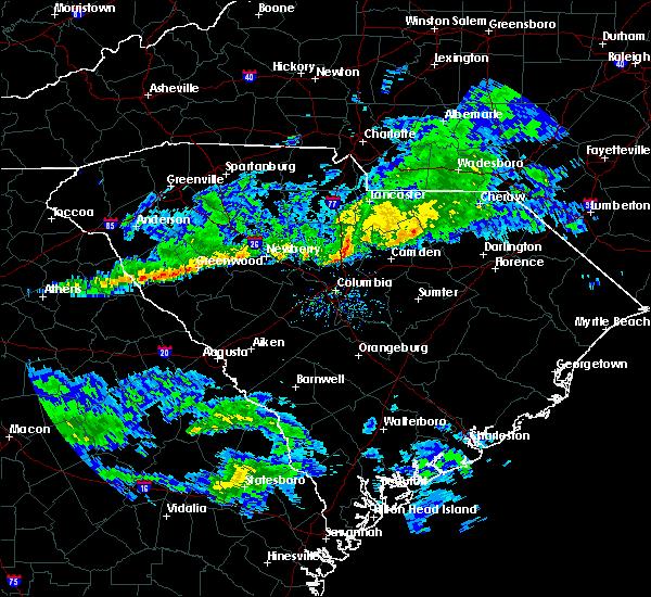 Radar Image for Severe Thunderstorms near Camden, SC at 3/3/2020 3:17 PM EST