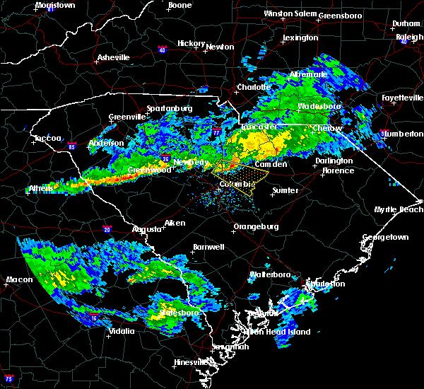 Radar Image for Severe Thunderstorms near Camden, SC at 3/3/2020 3:26 PM EST