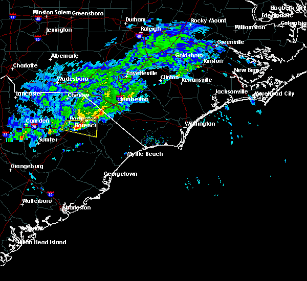 Radar Image for Severe Thunderstorms near Florence, SC at 3/3/2020 4:59 PM EST