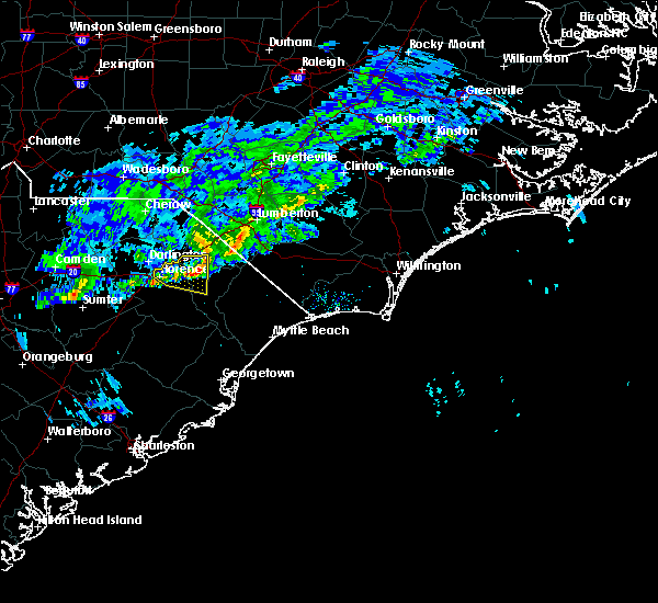 Radar Image for Severe Thunderstorms near Florence, SC at 3/3/2020 5:13 PM EST