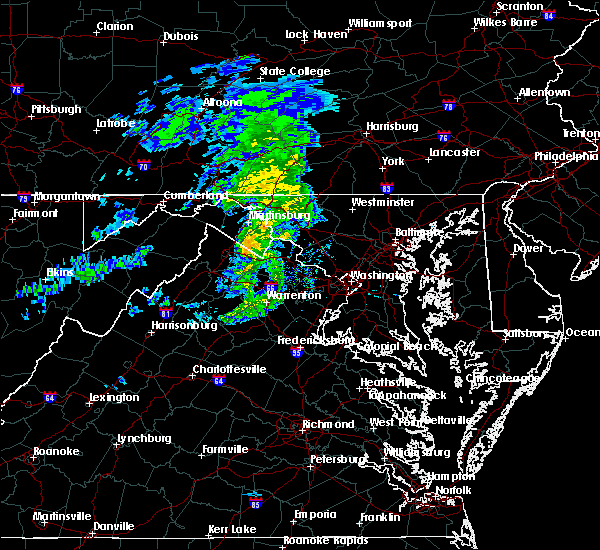 Radar Image for Severe Thunderstorms near Harpers Ferry, MD at 3/3/2020 6:17 PM EST