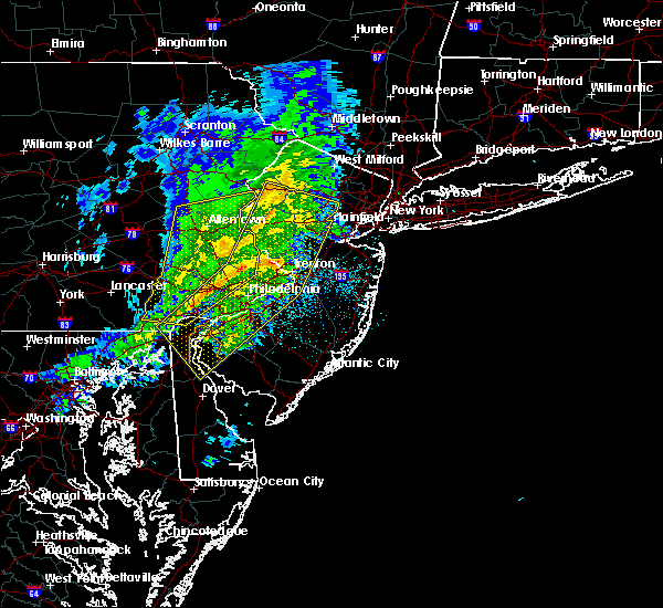 Radar Image for Severe Thunderstorms near Phoenixville, PA at 3/3/2020 9:15 PM EST