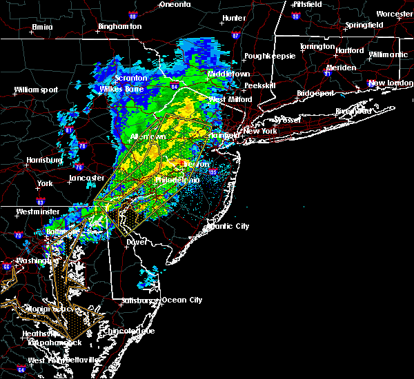 Radar Image for Severe Thunderstorms near Phoenixville, PA at 3/3/2020 9:23 PM EST