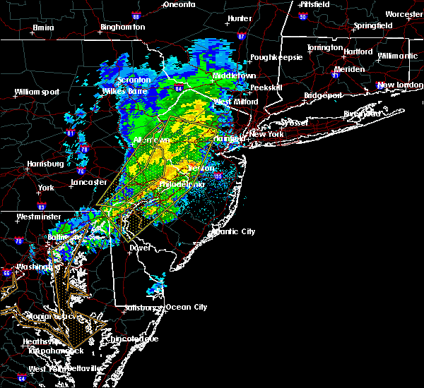Radar Image for Severe Thunderstorms near Yardley, PA at 3/3/2020 9:29 PM EST
