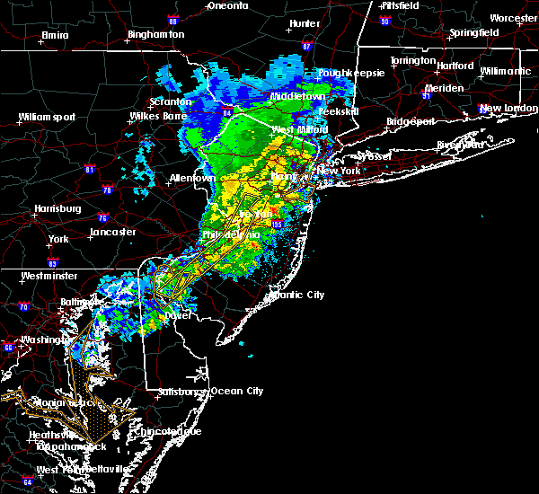 Radar Image for Severe Thunderstorms near Burlington, NJ at 3/3/2020 9:55 PM EST