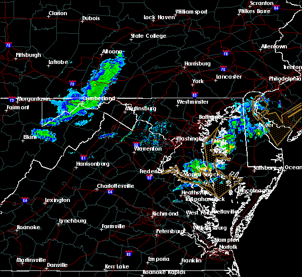 Radar Image for Severe Thunderstorms near Dawson, MD at 3/3/2020 10:06 PM EST