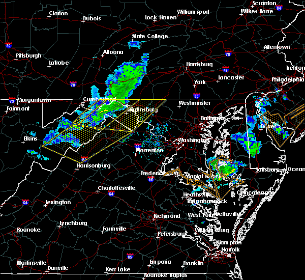 Radar Image for Severe Thunderstorms near Bagtown, MD at 3/3/2020 10:29 PM EST