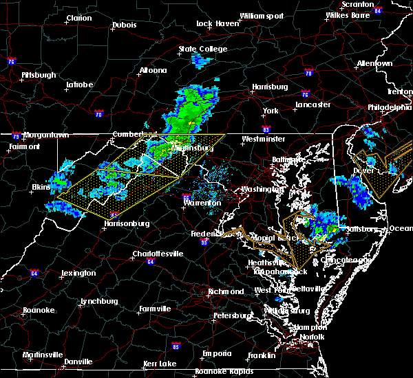 Radar Image for Severe Thunderstorms near Bagtown, MD at 3/3/2020 10:43 PM EST
