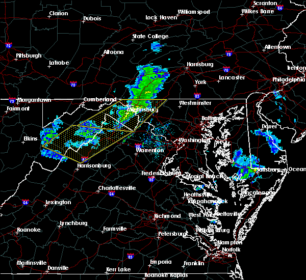 Radar Image for Severe Thunderstorms near Shawneeland, VA at 3/3/2020 10:50 PM EST