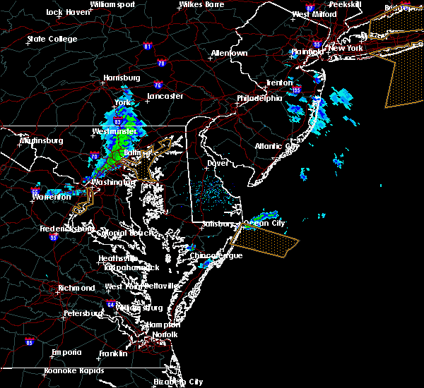 Radar Image for Severe Thunderstorms near Arbutus, MD at 3/3/2020 11:52 PM EST