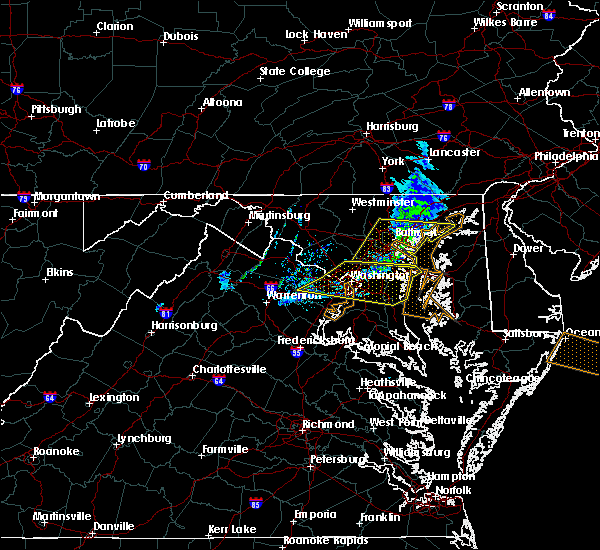 Radar Image for Severe Thunderstorms near Cockeysville, MD at 3/4/2020 12:01 AM EST