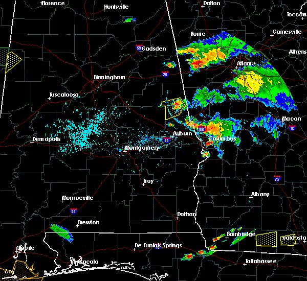Radar Image for Severe Thunderstorms near Columbus, GA at 6/24/2015 7:29 PM EDT