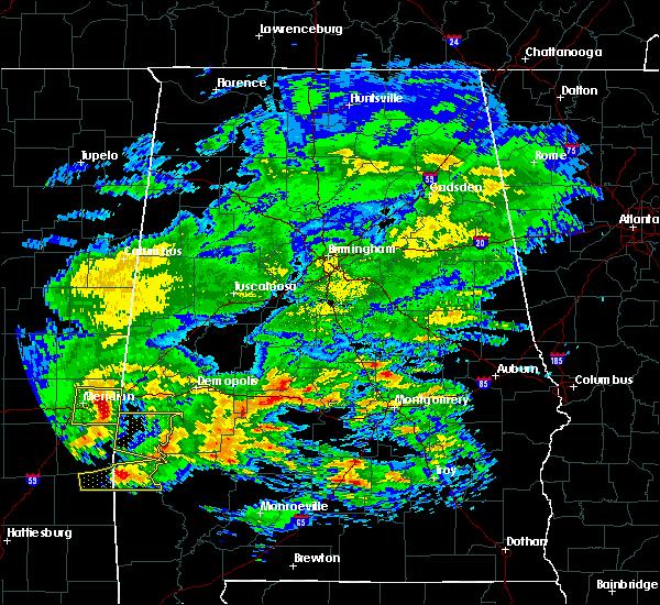Radar Image for Severe Thunderstorms near Bellamy, AL at 3/4/2020 4:23 AM CST