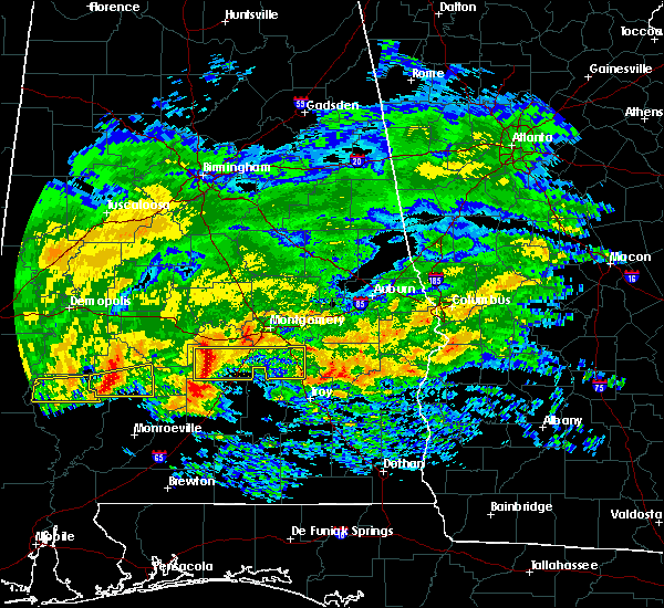 Radar Image for Severe Thunderstorms near Pike Road, AL at 3/4/2020 5:35 AM CST