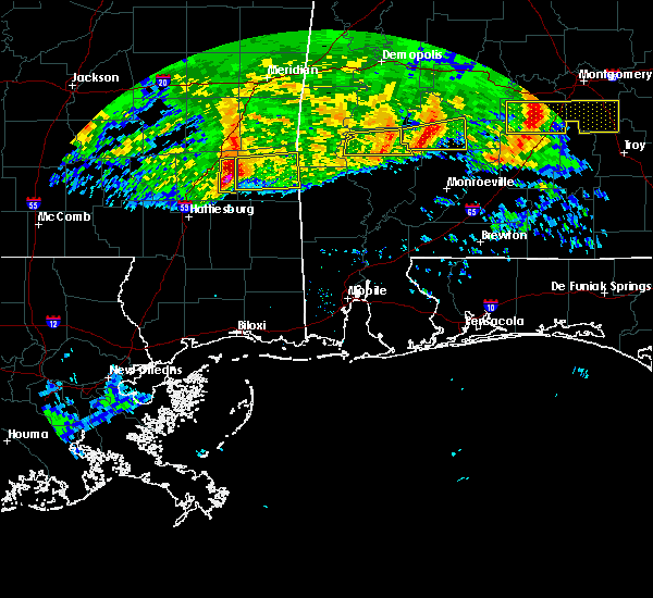 Radar Image for Severe Thunderstorms near Fulton, AL at 3/4/2020 5:39 AM CST