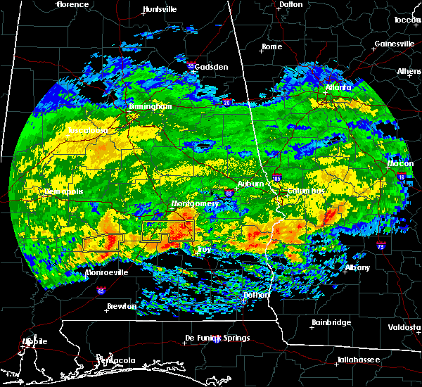 Radar Image for Severe Thunderstorms near Pike Road, AL at 3/4/2020 6:17 AM CST