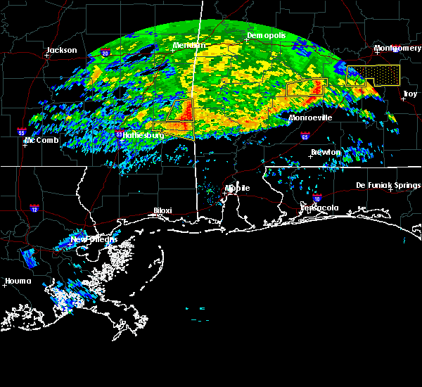 Radar Image for Severe Thunderstorms near Fruitdale, AL at 3/4/2020 6:17 AM CST