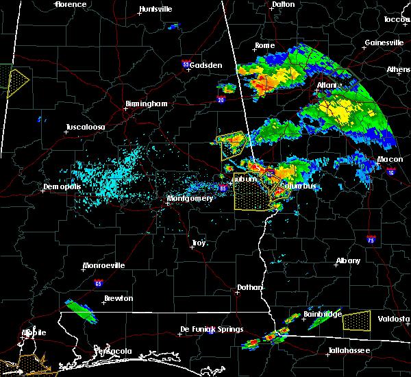 Radar Image for Severe Thunderstorms near Columbus, GA at 6/24/2015 7:41 PM EDT