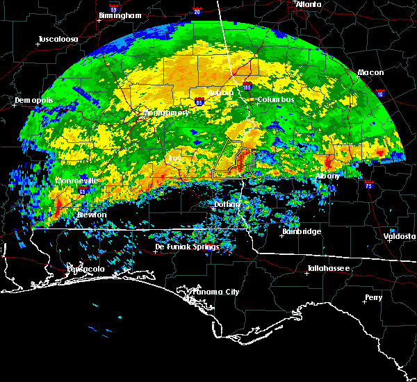Radar Image for Severe Thunderstorms near Shellman, GA at 3/4/2020 8:55 AM EST