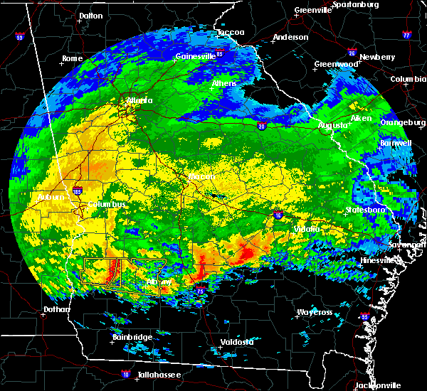 Radar Image for Severe Thunderstorms near Dawson, GA at 3/4/2020 9:32 AM EST