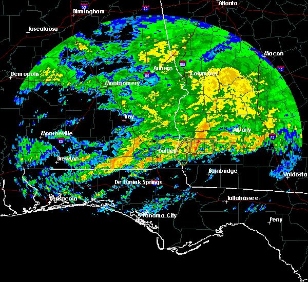 Radar Image for Severe Thunderstorms near Cedar Springs, GA at 3/4/2020 10:42 AM EST