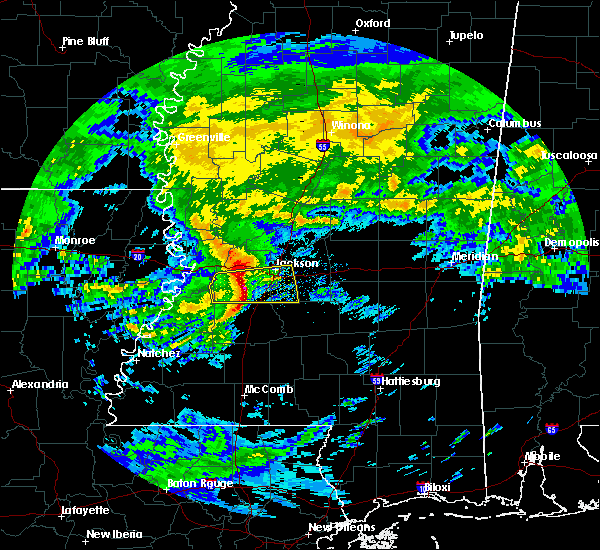 Radar Image for Severe Thunderstorms near Flowood, MS at 3/4/2020 9:49 AM CST