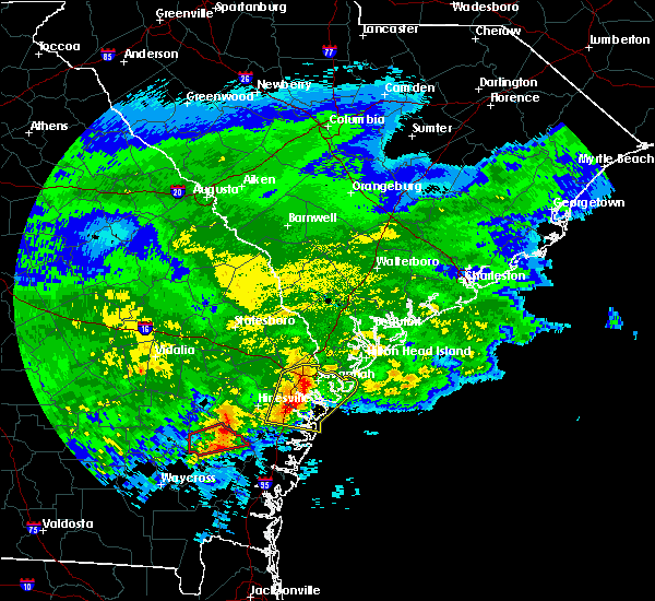 Radar Image for Severe Thunderstorms near Midway, GA at 3/4/2020 11:23 AM EST