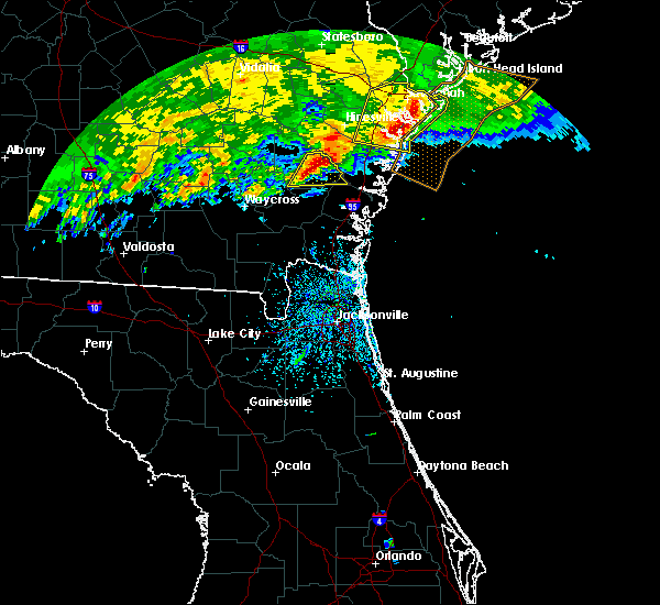 Radar Image for Severe Thunderstorms near Jesup, GA at 3/4/2020 11:33 AM EST