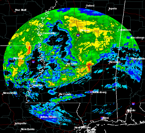 Radar Image for Severe Thunderstorms near Newton, MS at 3/4/2020 10:54 AM CST