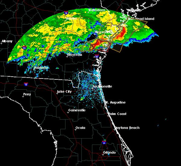 Radar Image for Severe Thunderstorms near Jesup, GA at 3/4/2020 11:54 AM EST