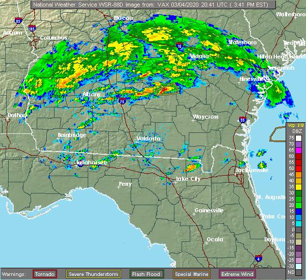Radar Image for Severe Thunderstorms near Denton, GA at 3/4/2020 3:47 PM EST