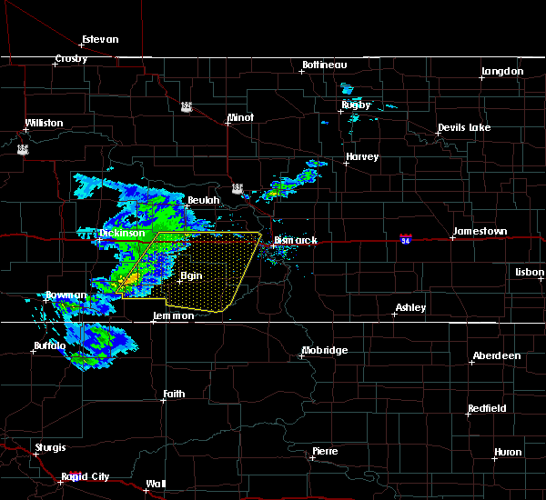 Radar Image for Severe Thunderstorms near New Salem, ND at 3/4/2020 2:15 PM MST