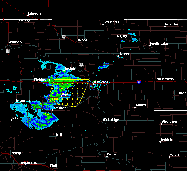 Radar Image for Severe Thunderstorms near New Salem, ND at 3/4/2020 2:35 PM MST