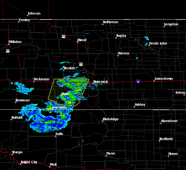 Radar Image for Severe Thunderstorms near New Salem, ND at 3/4/2020 2:59 PM MST