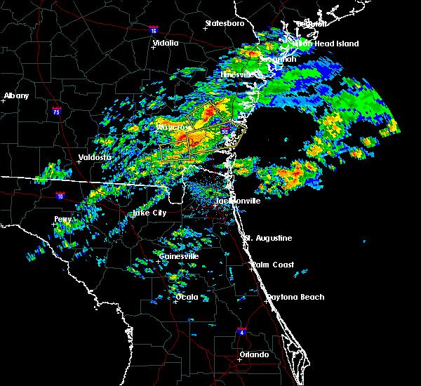Radar Image for Severe Thunderstorms near St. Simons, GA at 3/5/2020 4:13 PM EST