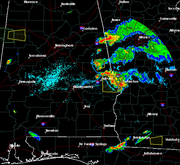 Radar Image for Severe Thunderstorms near Opelika, AL at 6/24/2015 7:01 PM CDT