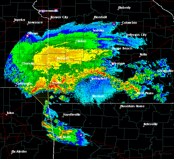 Radar Image for Severe Thunderstorms near Duenweg, MO at 3/11/2020 5:10 AM CDT