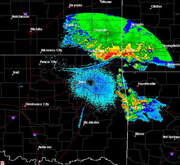 Radar Image for Severe Thunderstorms near Bernice, OK at 3/11/2020 5:10 AM CDT