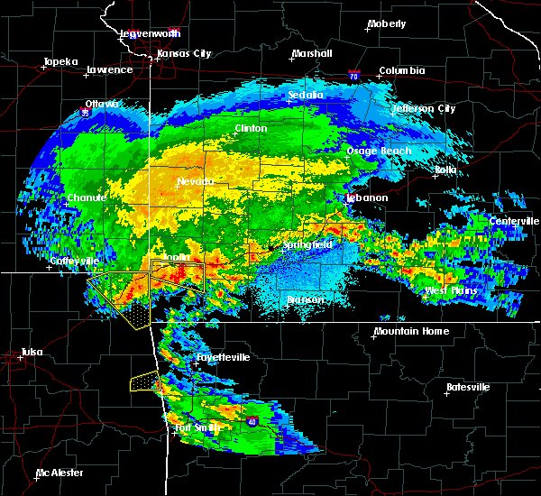 Radar Image for Severe Thunderstorms near Joplin, MO at 3/11/2020 5:29 AM CDT