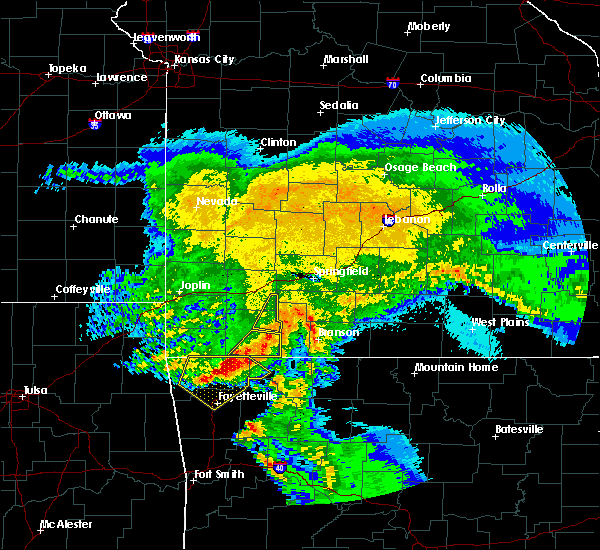 Radar Image for Severe Thunderstorms near Aurora, MO at 3/11/2020 6:27 AM CDT